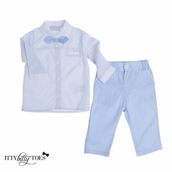 Powder Blue Pants Set