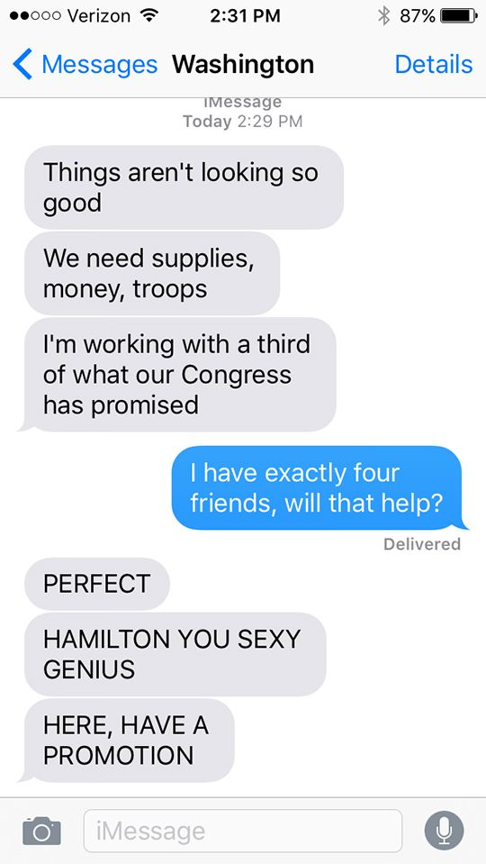 Sparklife Hamilton As Told In A Series Of Texts Actually Three