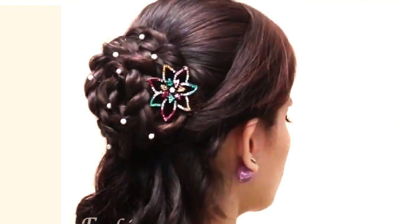 Braided Bun Hairstyle Easy Lace Braid Bun Juda Hairstyle