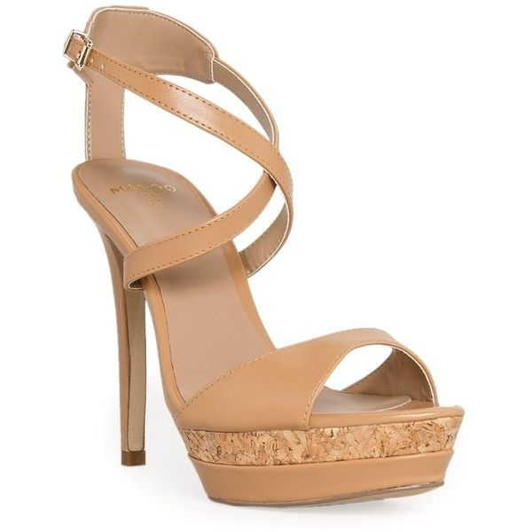 MANGO Mixed platform sandals (5.815 RUB) Faux leather sandals with crisscross straps and buckle fastening. Mixed platform on the front, leather-blend insole and covered stiletto heels. Shoeupper: 100% polyurethane. Lining: 100% polyurethane. Insole: 65% goat leather,35% polyurethane. Sole: 100% rubber. Fixing sole: 100% stuck.