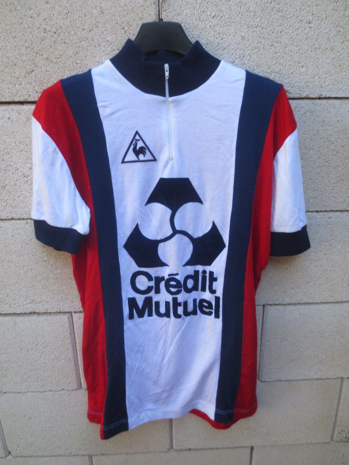 Maillot cycliste LE COQ SPORTIF Crédit Mutuel vintage 80 s trikot shirt  jersey 4  4fff8931f