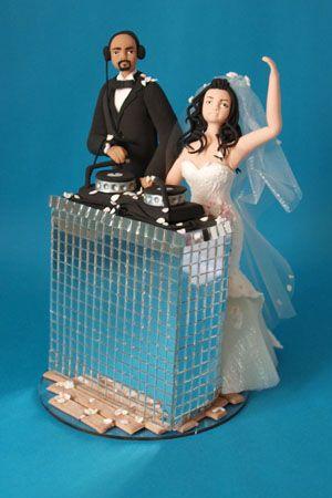 Dj Cake Topper Personalised Dj Bride And Groom Wedding