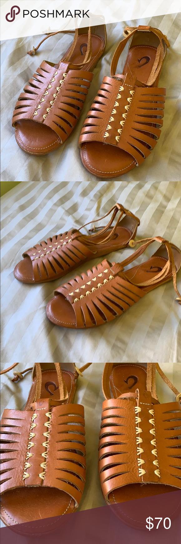 NWT Olukai Woven Amber Tan Ginger Sandals Tan ginger