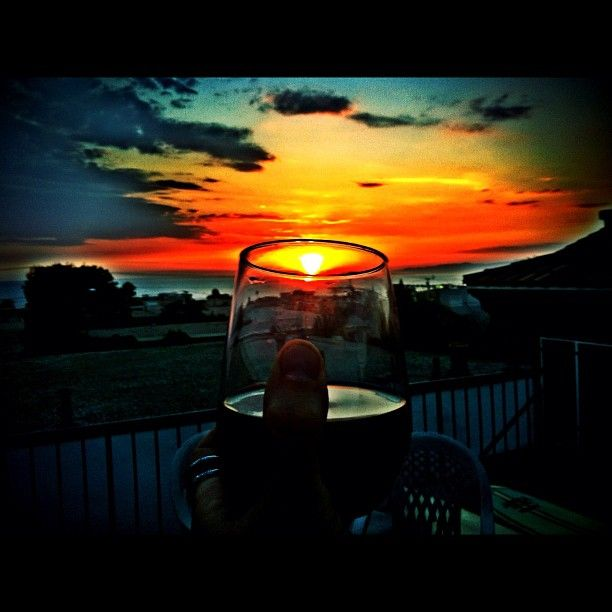 Toast to a great week! Sunset in California