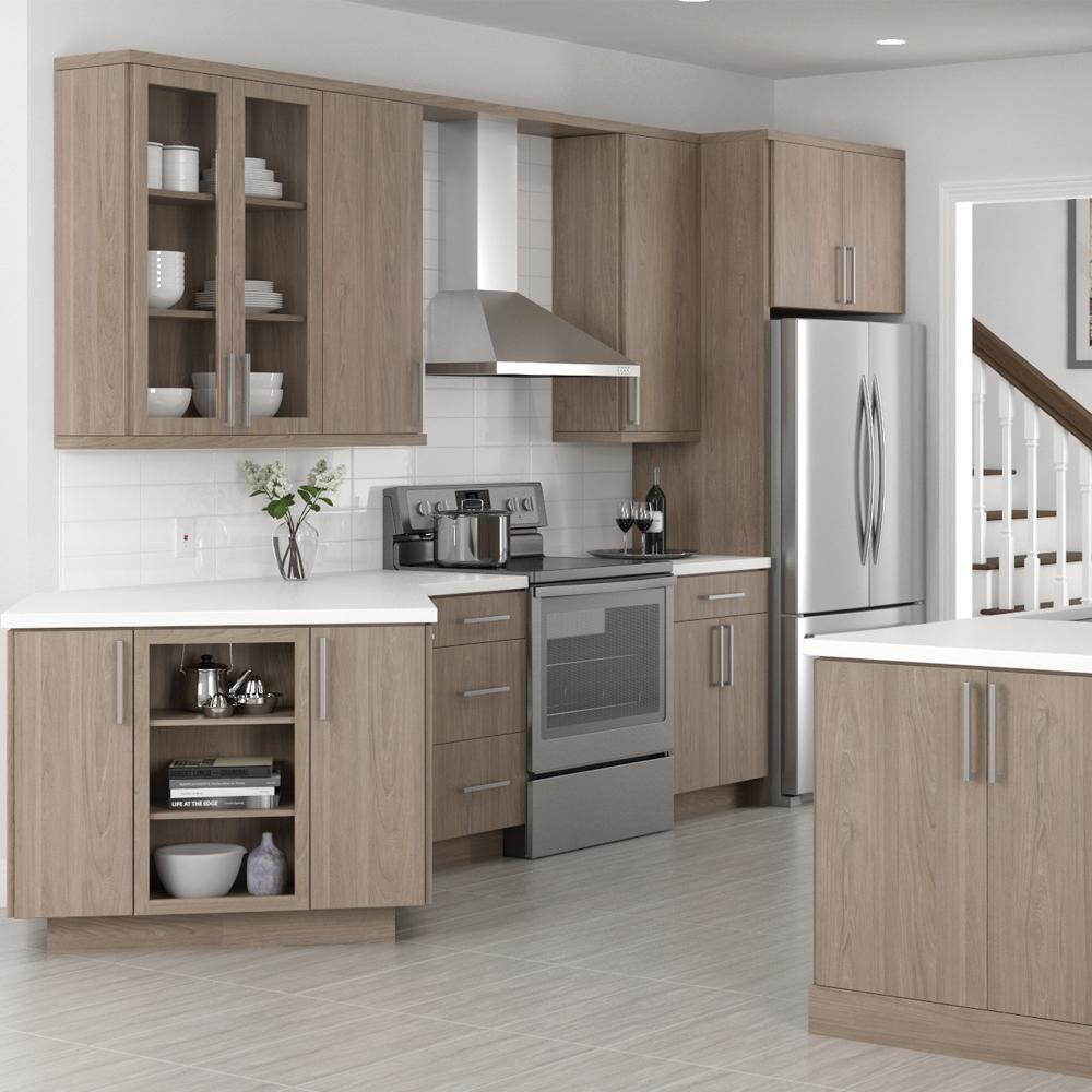 Frameless Kitchen Cabinet Woodworking Plans: Frameless Soft-Close Glides Light Brown MDF Kitchen