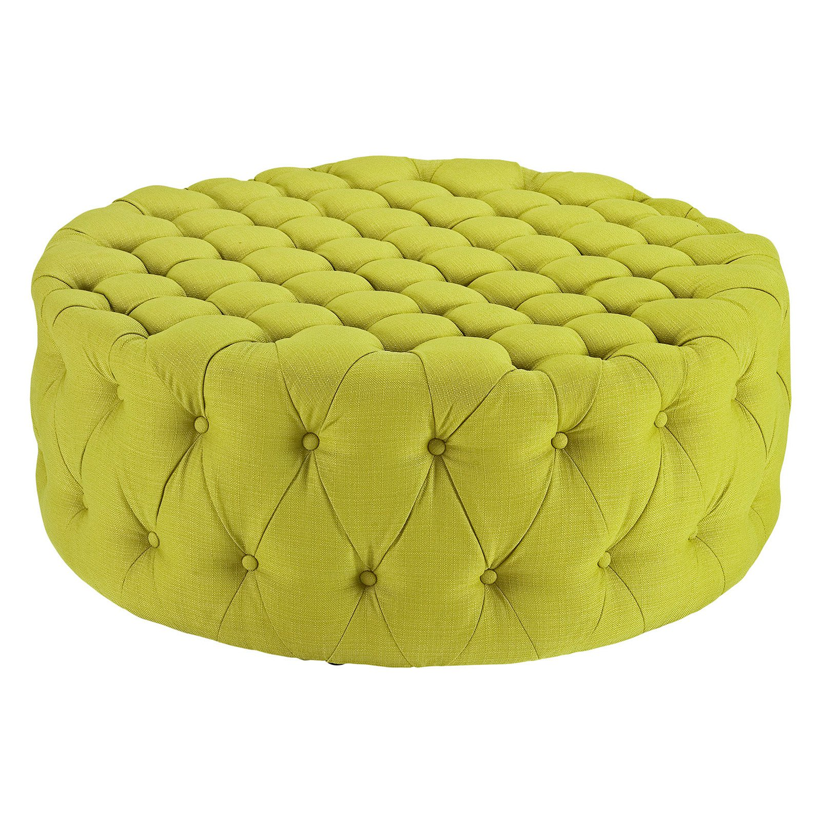 Phenomenal Modway Amour Upholstered Fabric Ottoman Wheatgrass Onthecornerstone Fun Painted Chair Ideas Images Onthecornerstoneorg