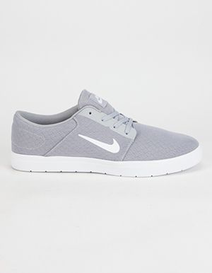 on sale 90e8b 3a4ac NIKE SB Portmore Ultralight Mens Shoes Grey