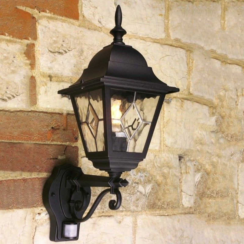 Elstead Norfolk Outdoor Lantern Wall Light With Pir Sensor