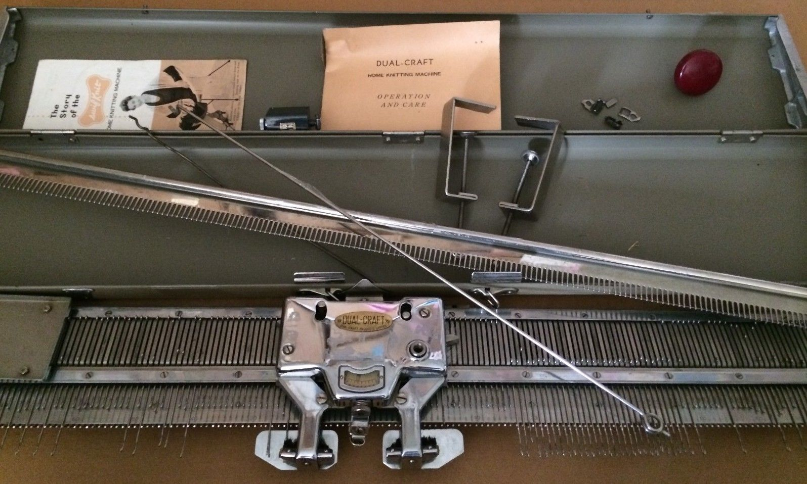 Vintage Knitting Machine : Details about vintage antique dual craft home knitting