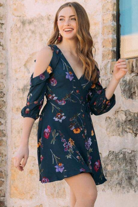 e4094bf147c Anika Surplus Floral A-line Dress