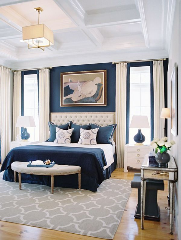 Well Decorated Blue Bedroom Blue Bedroom Walls Elegant Master Bedroom Master Bedrooms Decor