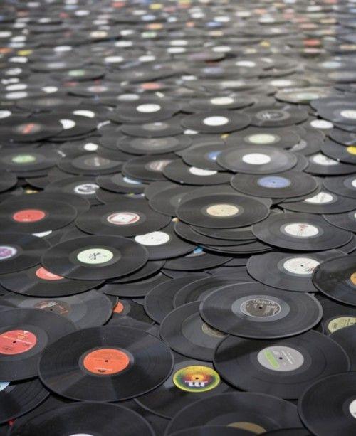 albums - vinyl. Still have all mine. :)