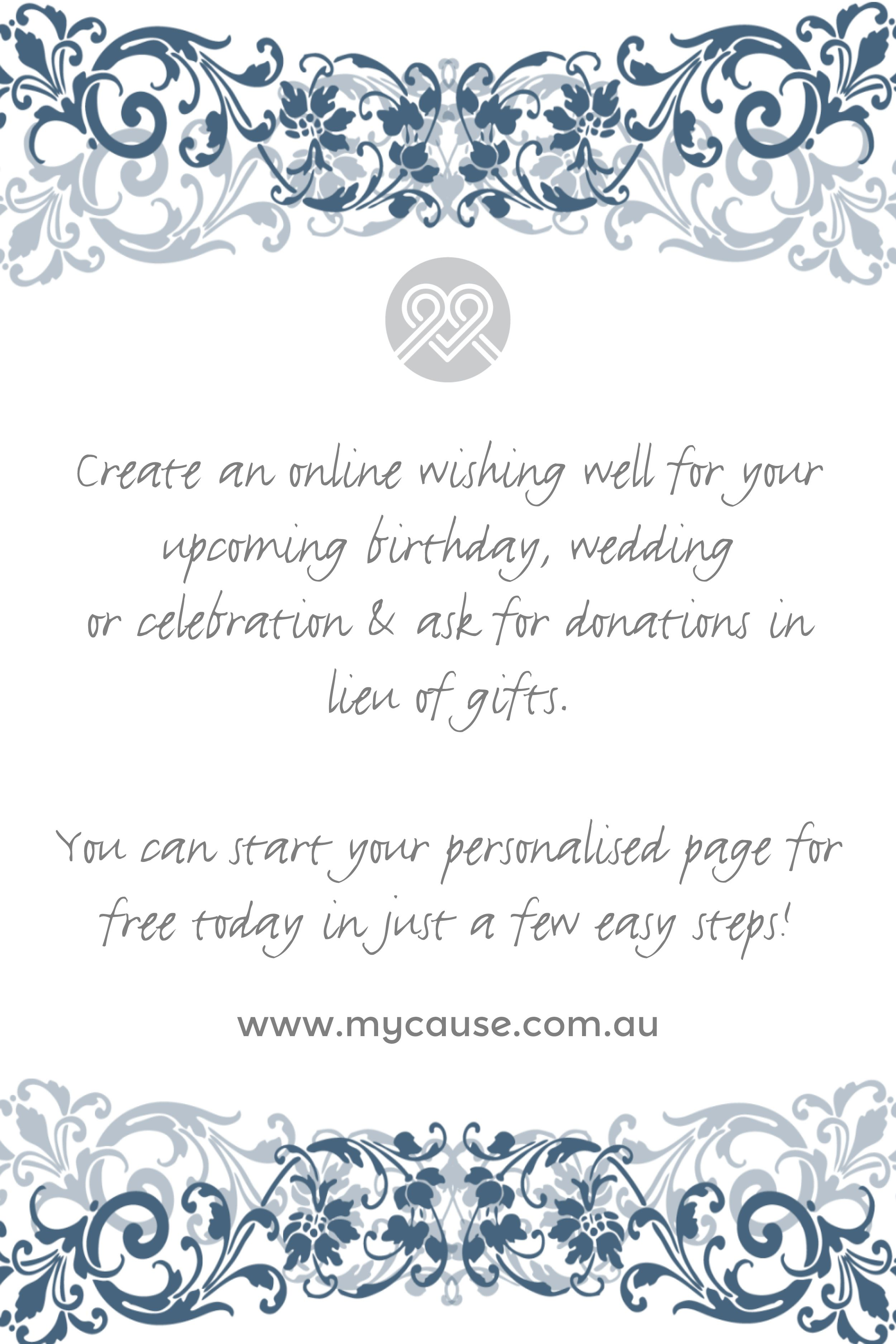 Create an online wishing well for your wedding