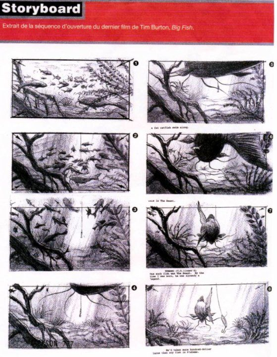 Big Fish Storyboard Magazine Fr  Storyboards Cine