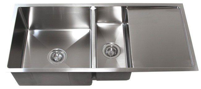 42 Stainless Steel Undermount Kitchen Sink W Drain Board Tz4219
