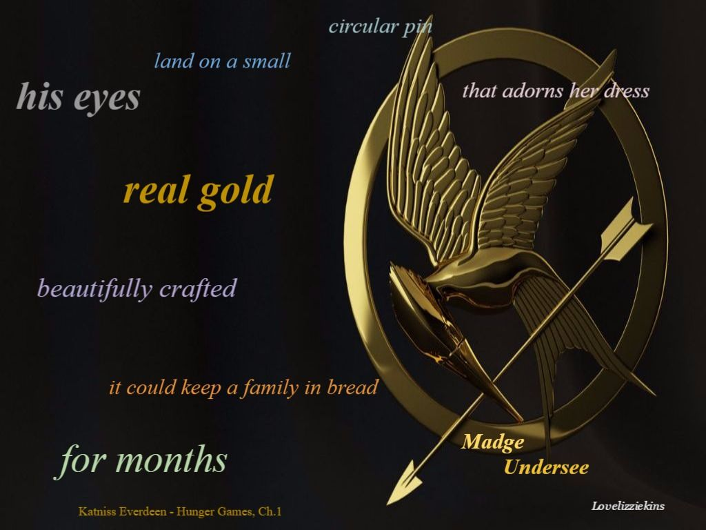 The Hunger Games Book Quote Katniss Everdeen Madge Undersee