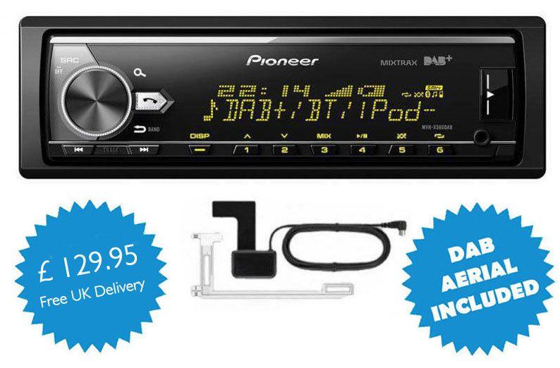 pioneer mvh x580dab. pioneer mvh-x580dab mechless bluetooth dab car radio stereo ! mvh x580dab t