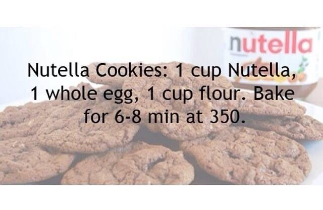 Nutella cookies (With images) | Nutella cookies