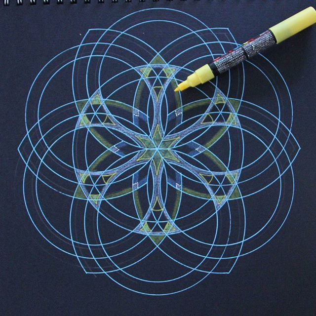 In progress  #wip #mandala #sacredgeometry. #seedoflife. #floweroflife. #myart #my #drawings