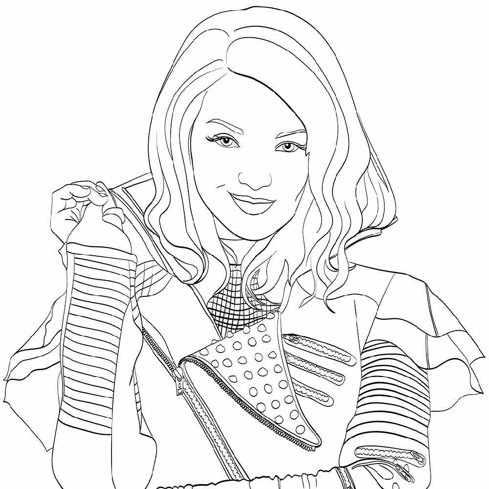 Descendants Coloring Pages Printable In 2020 Descendants Coloring Pages Disney Coloring Pages Coloring Pages