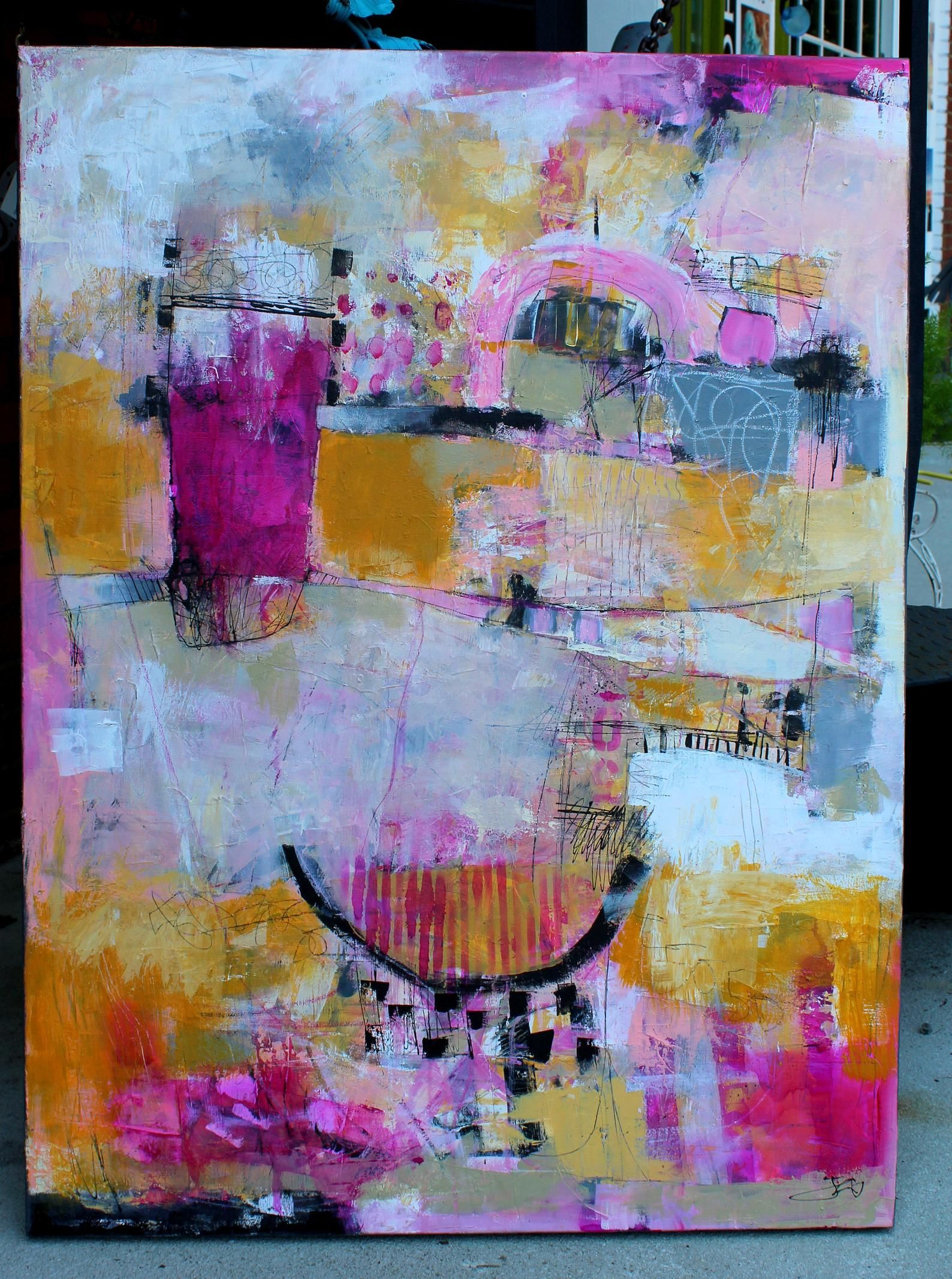 Untitled No. 30 | Original Colorful Abstract Painting | Expressionism | 24x30 inches Stretched