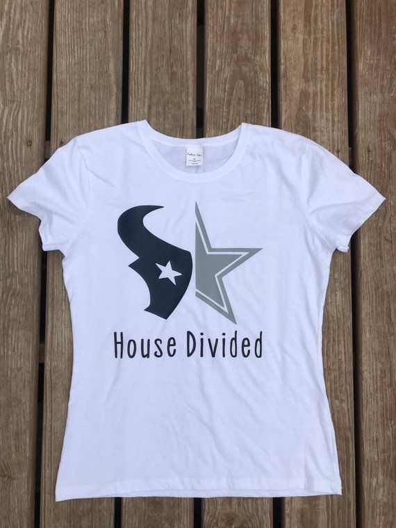 e146b892 House Divided ~House divided shirt | College football | Pick your teams~ -  Design comes on a 100% cotton Pre Shrunk unisex t-shirt.