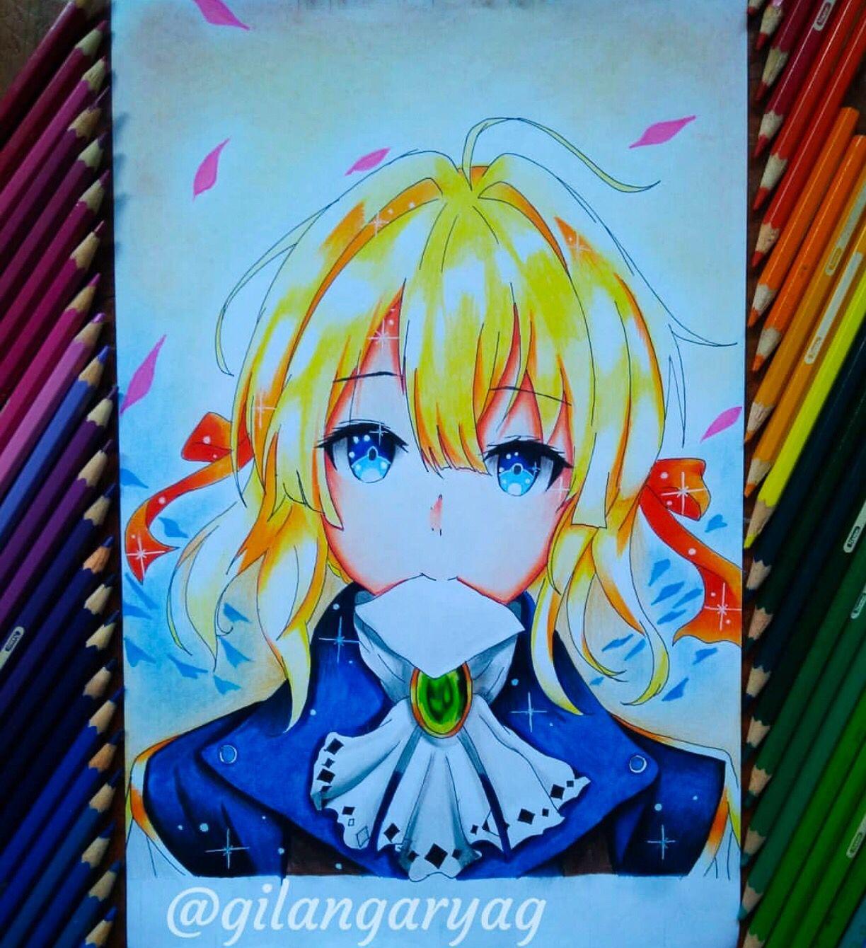Violet Anime Anime Art Anime Drawings