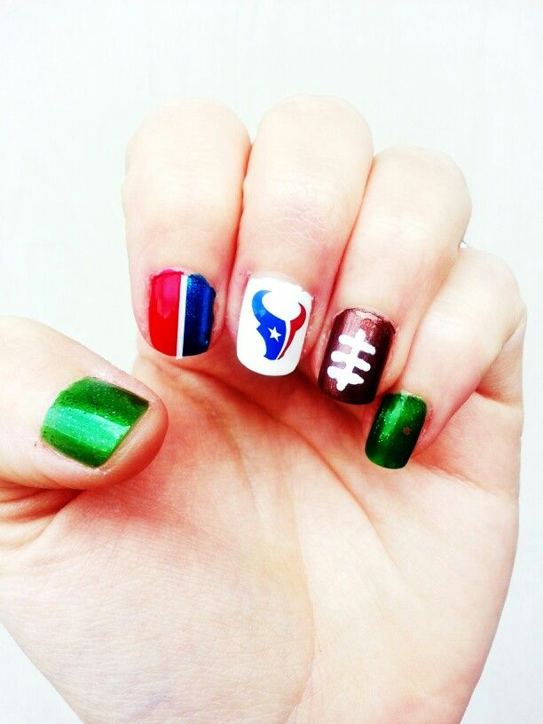 Houston Texans nail art | Nailed it | Pinterest | Houston texans ...