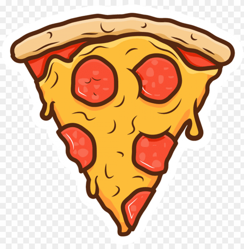 Slice Sticker Just Stickers Pizza Slice Cartoon Png Image With Transparent Background Png Free Png Images Pizza Cartoon Pizza Slice Cartoons Png