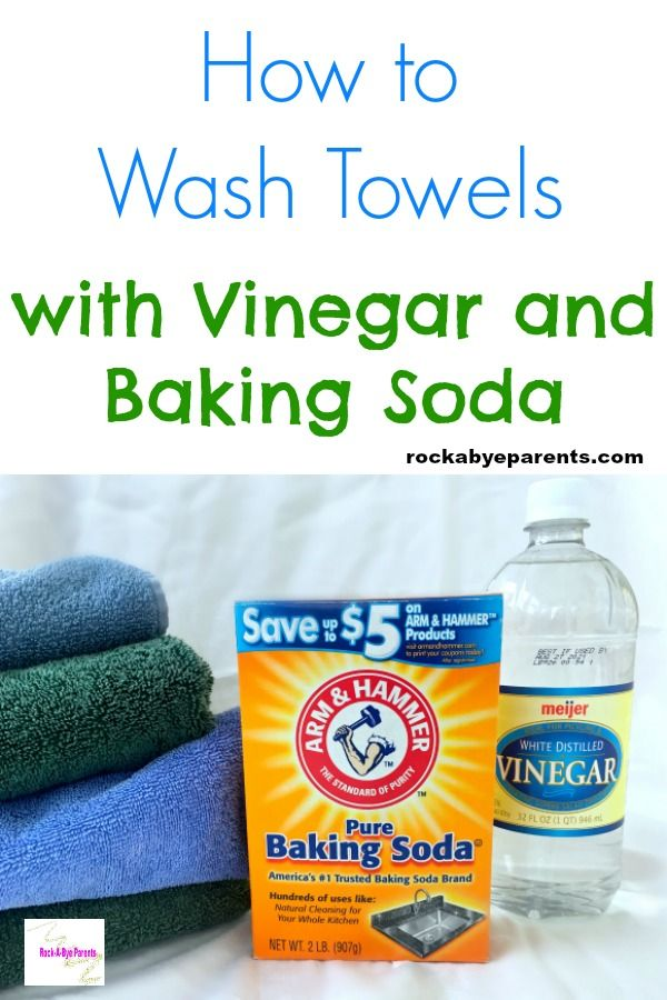 Washing Towels with Vinegar and Baking Soda Safely   Wash ...