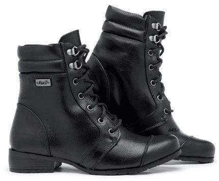 5d1dd919b3 Bota Coturno Militar Motociclista Feminina Top Franca Shoes Preta - Marca Top  Franca Shoes