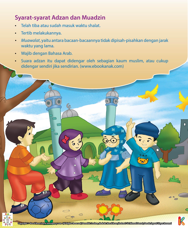 Syarat Syarat Adzan Dan Muadzin Ebook Anak Anak Buku Membaca