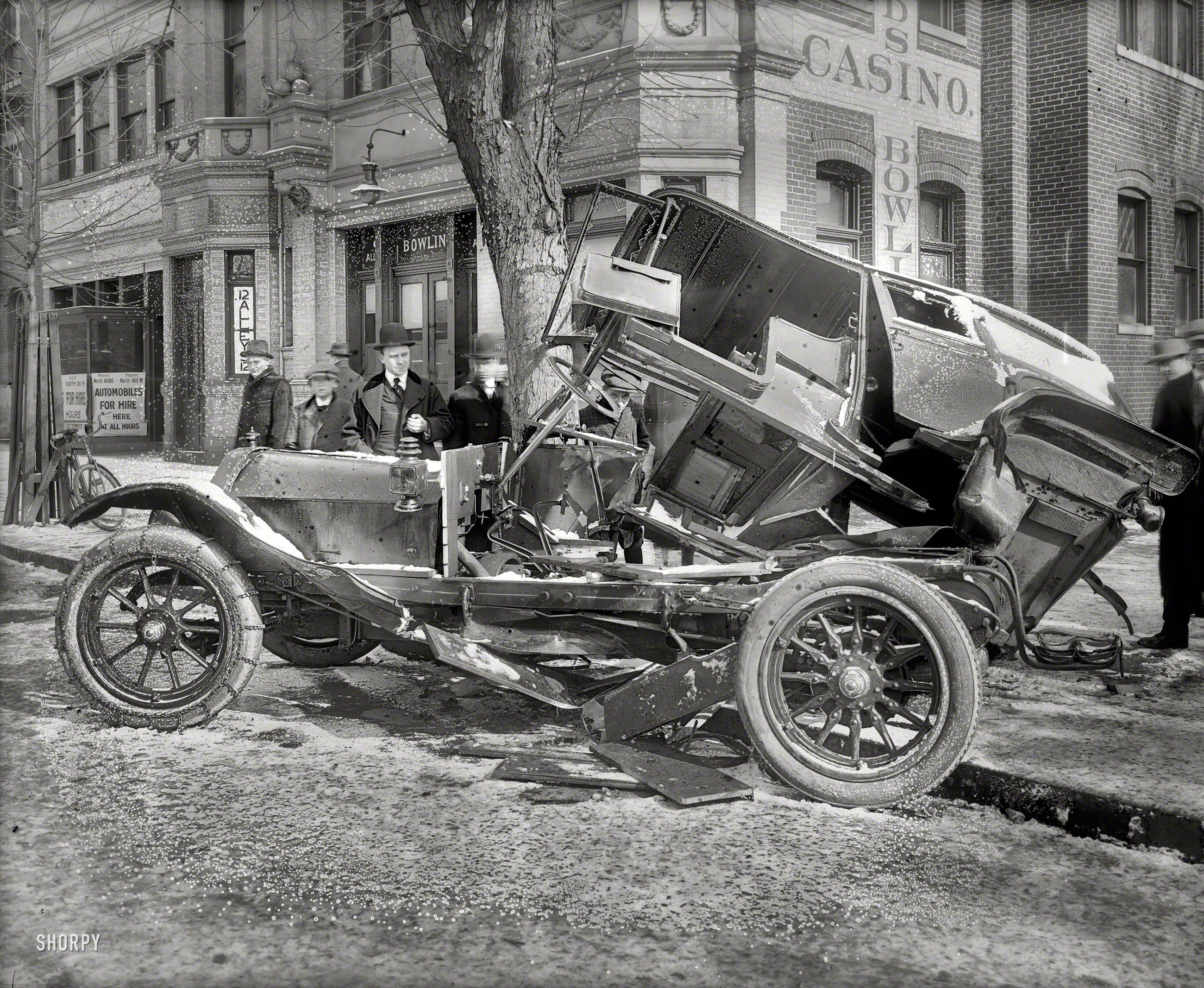 February 4 1916 washington dc auto wreck at 14th t