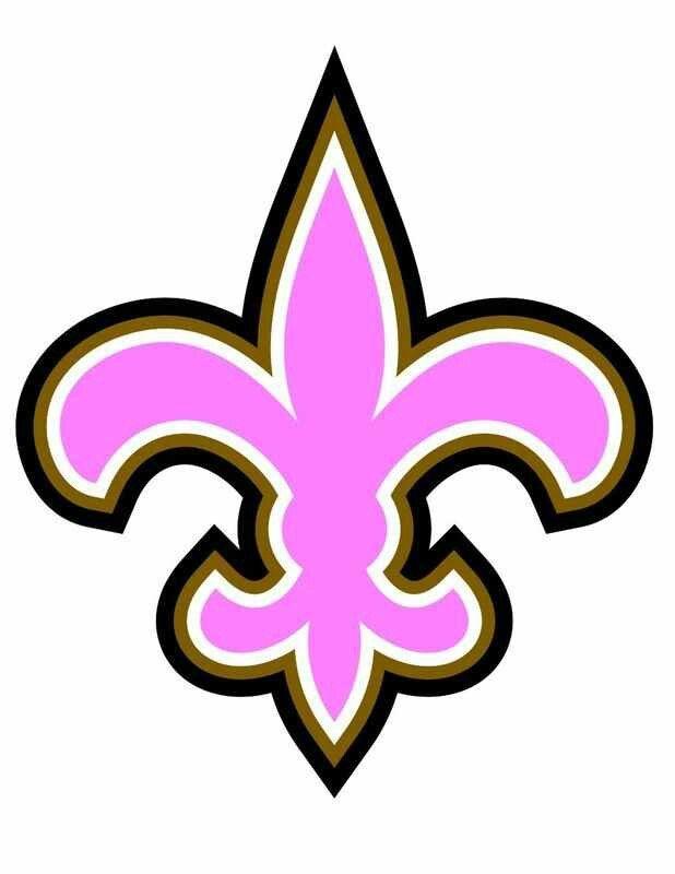 New Orleans Saints Logo In Pink Fleur De Lys Fleur De Lis Fleurs