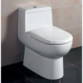 Ceramic Dual Flush Elongated One Piece Toilet Seat