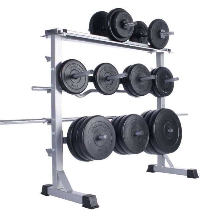 0c41fd96580 If you have a lot of dumbbells and weight plates loose around your home gym  with nowhere to really store them