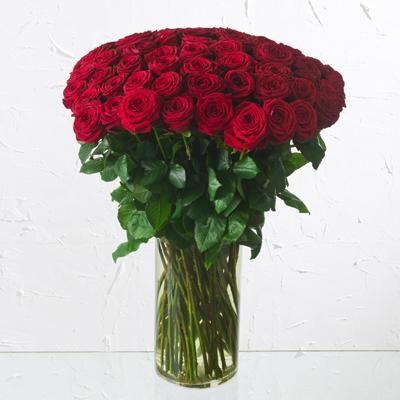d1f89cb247c60 Ramo de rosas - Rosas de tallo largo (80cm) con verde