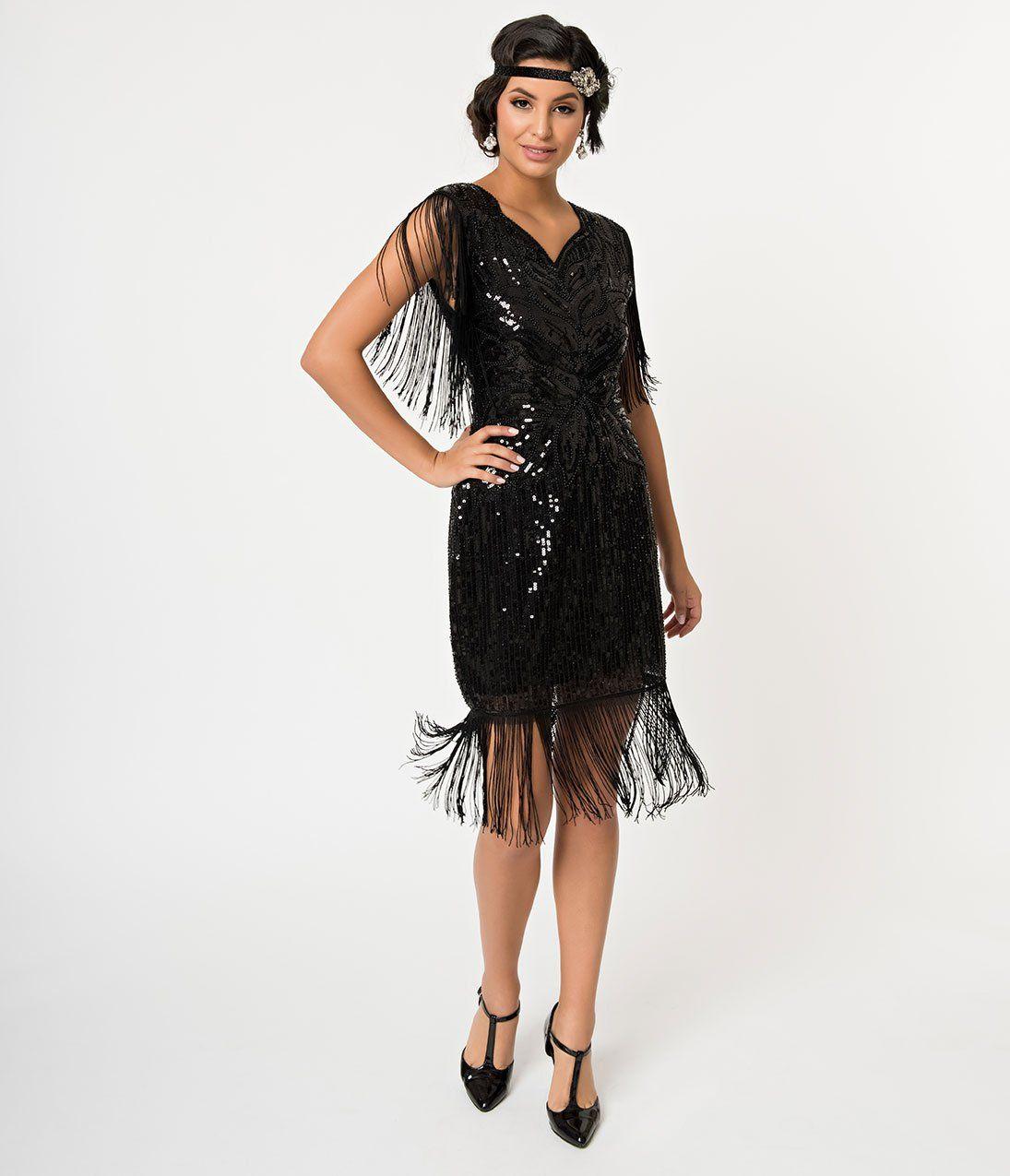 Vintage Cocktail Dresses Party Dresses Prom Dresses Flapper Dress 1920s Fashion Women Gorgeous Black Dress [ 1275 x 1095 Pixel ]