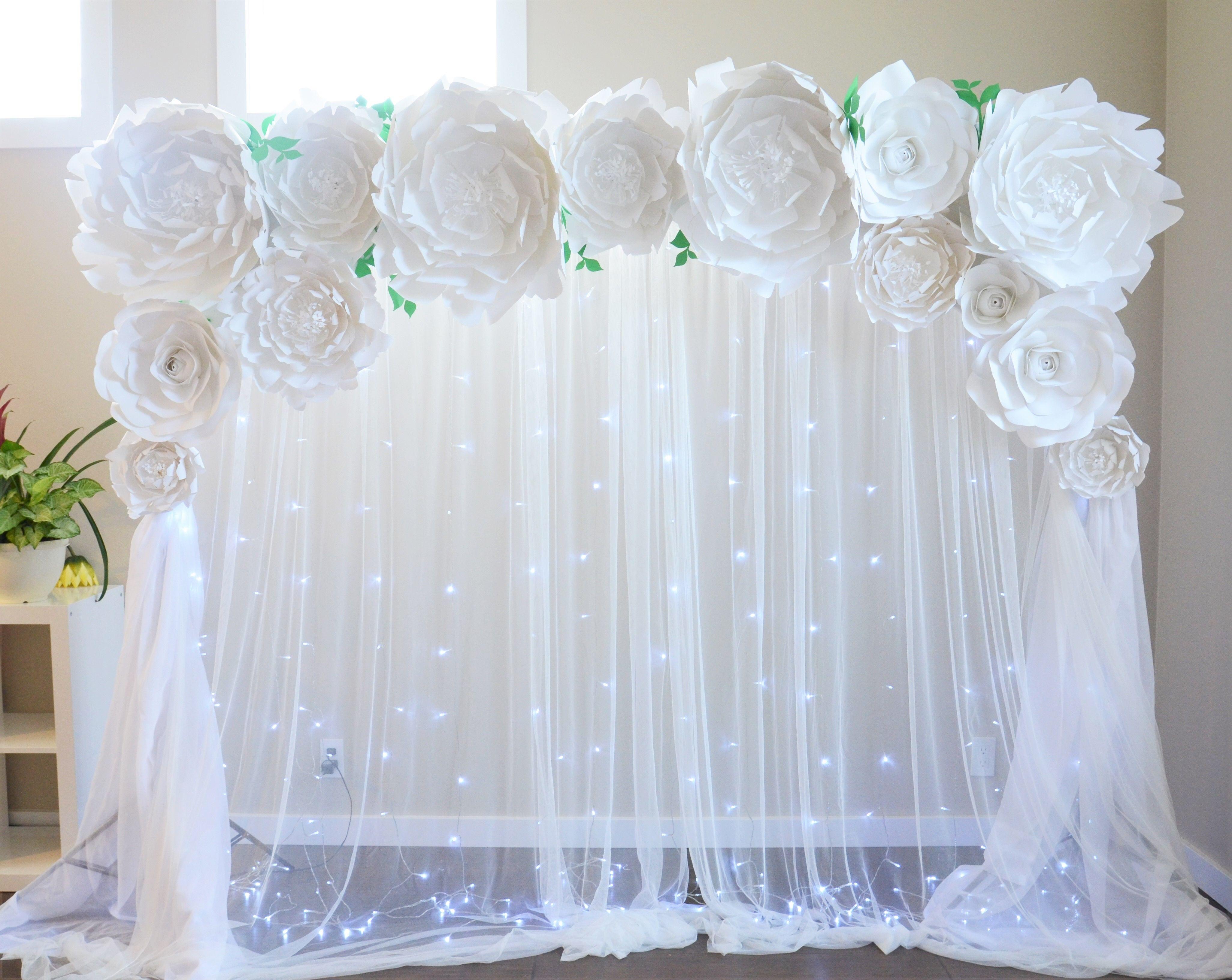 Wedding Backdrop By Seattle Giant Flowers Peony Backdrop