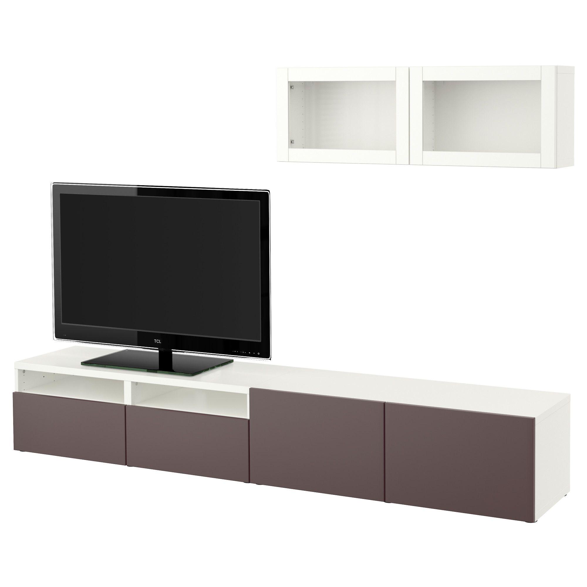 Ikea Besta Tv Storage Combination Glass Doors White Valviken Dark Tv Cabinet Ikea Basement Living Rooms Ikea