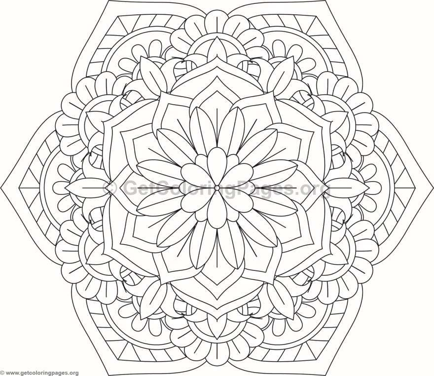 easy flower mandala coloring pages - photo#20