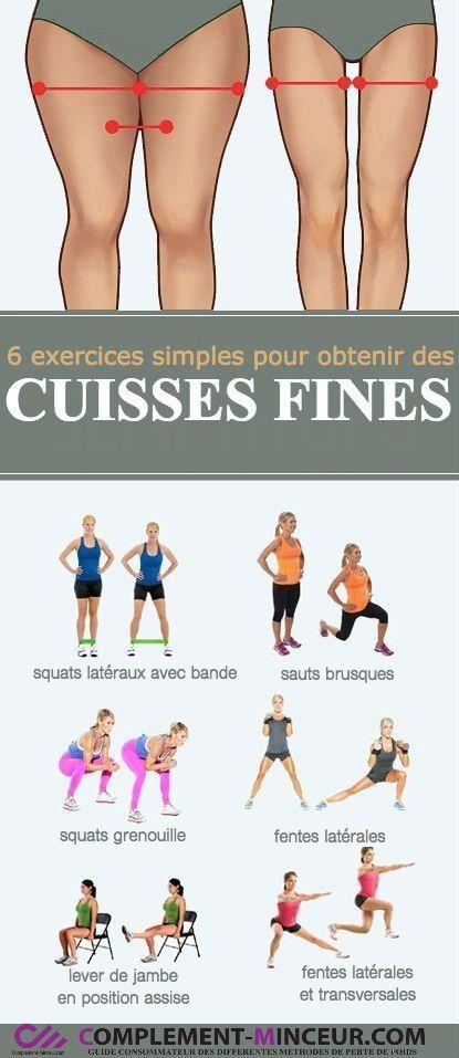 6 Übungen, um dünne Oberschenkel zu bekommen # schlank # Gewicht verlieren # g…