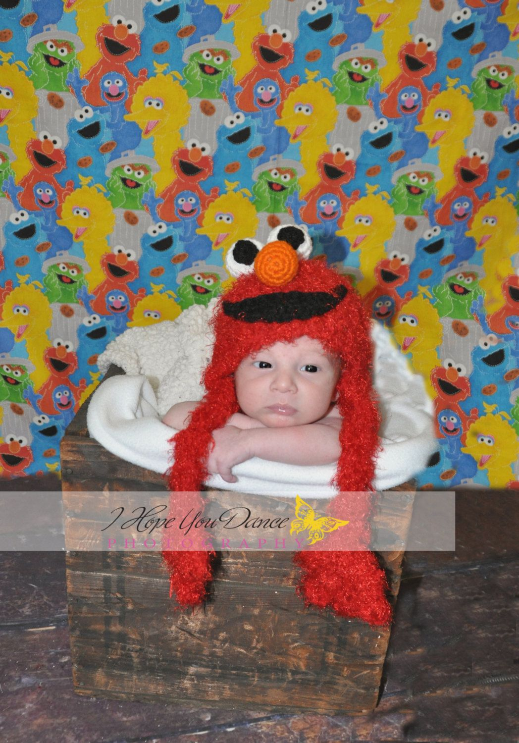 Crochet Elmo Hat  BABY & CHILD SIZES by ContrarywiseDesigns, $20.00