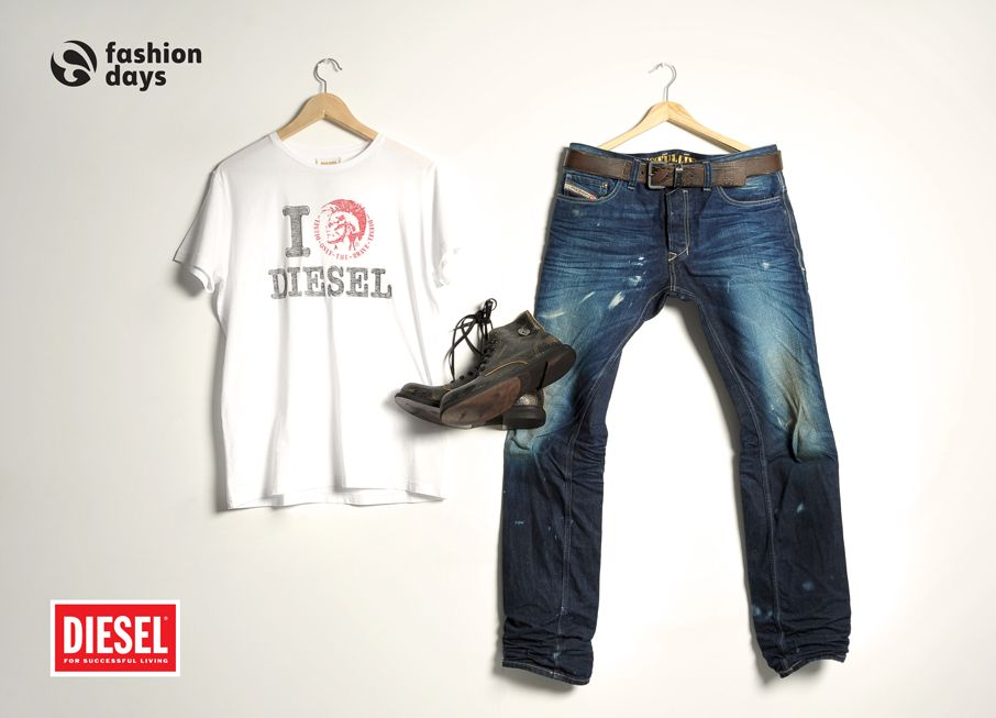 DIESEL outfit for MEN.
