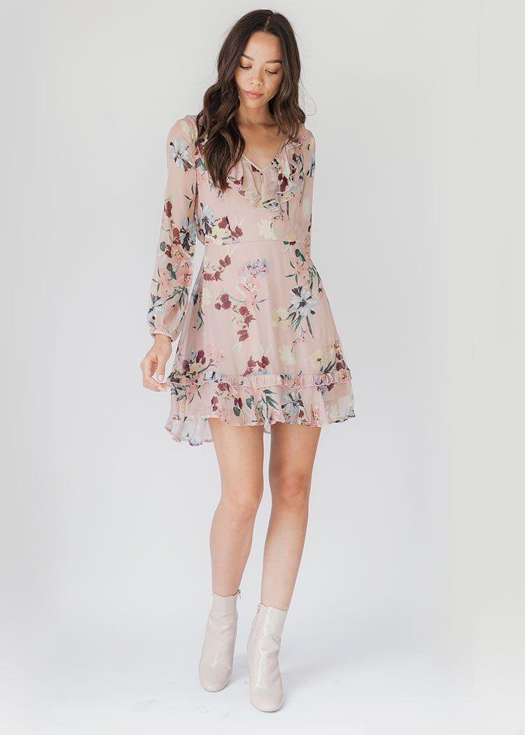 972c3405ae5 Shay Blush Pink Floral Print Dress