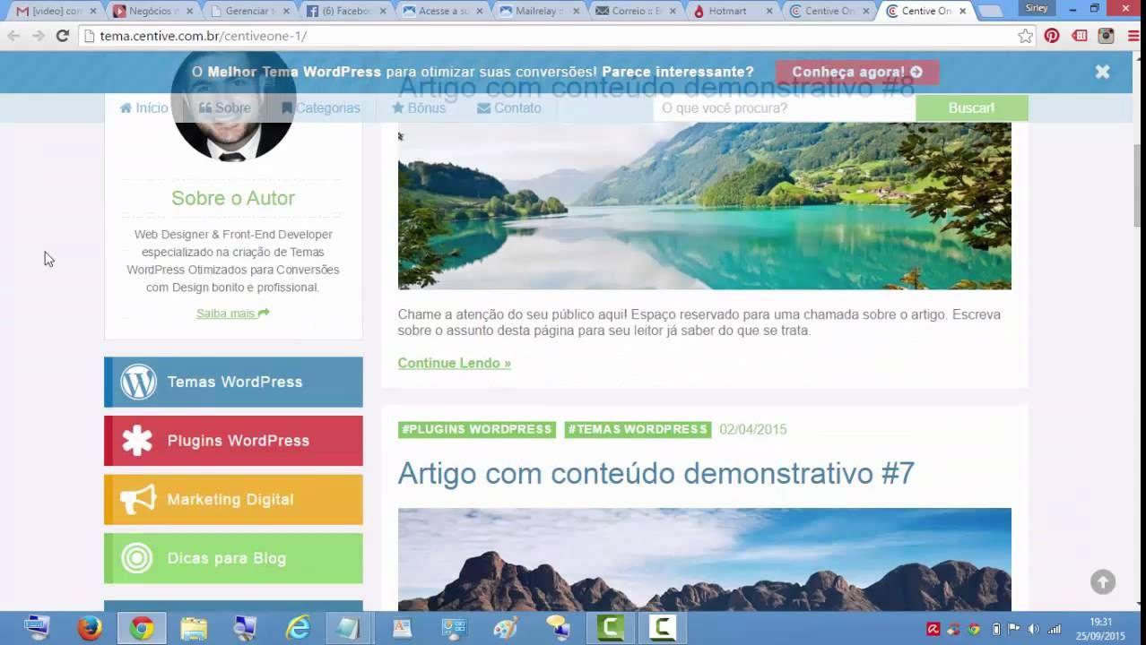 Centive - Temas WordPress Otimizados Profissional