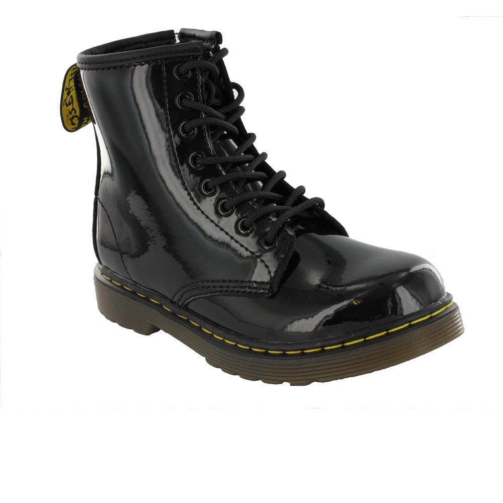 0bc9ebbe14b Dr Martens BROOKLEE 15373003 Infant Boot in Black Patent Leather ...