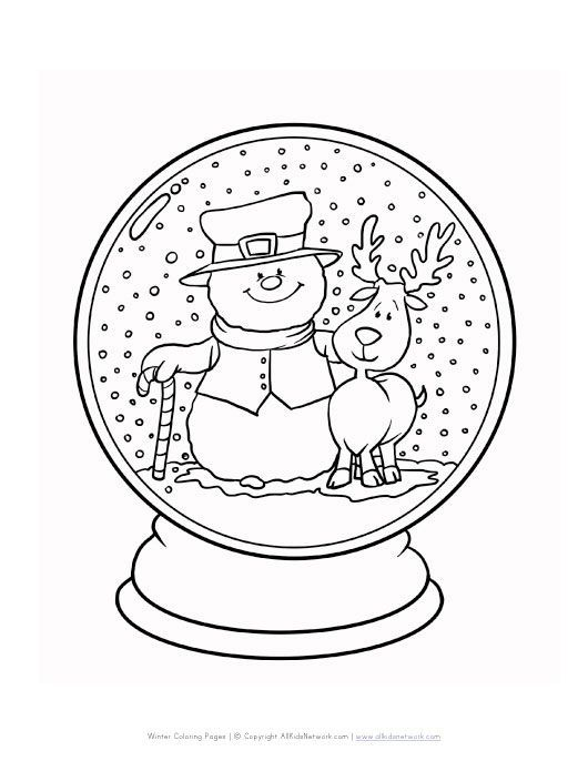 Malvorlagen Winter Schneekugel #coloringpagestoprint