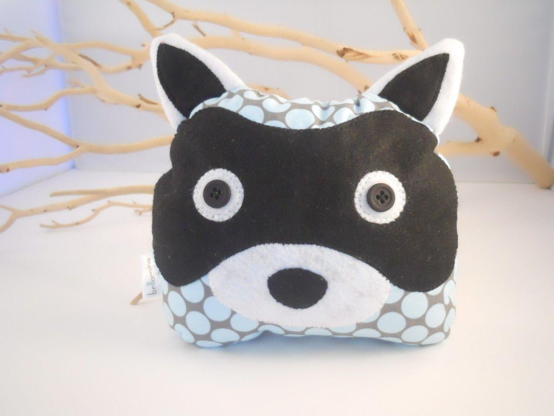 Handmade raccoon bookend home decor plush amy butler designer fabric. $35,00, via Etsy.