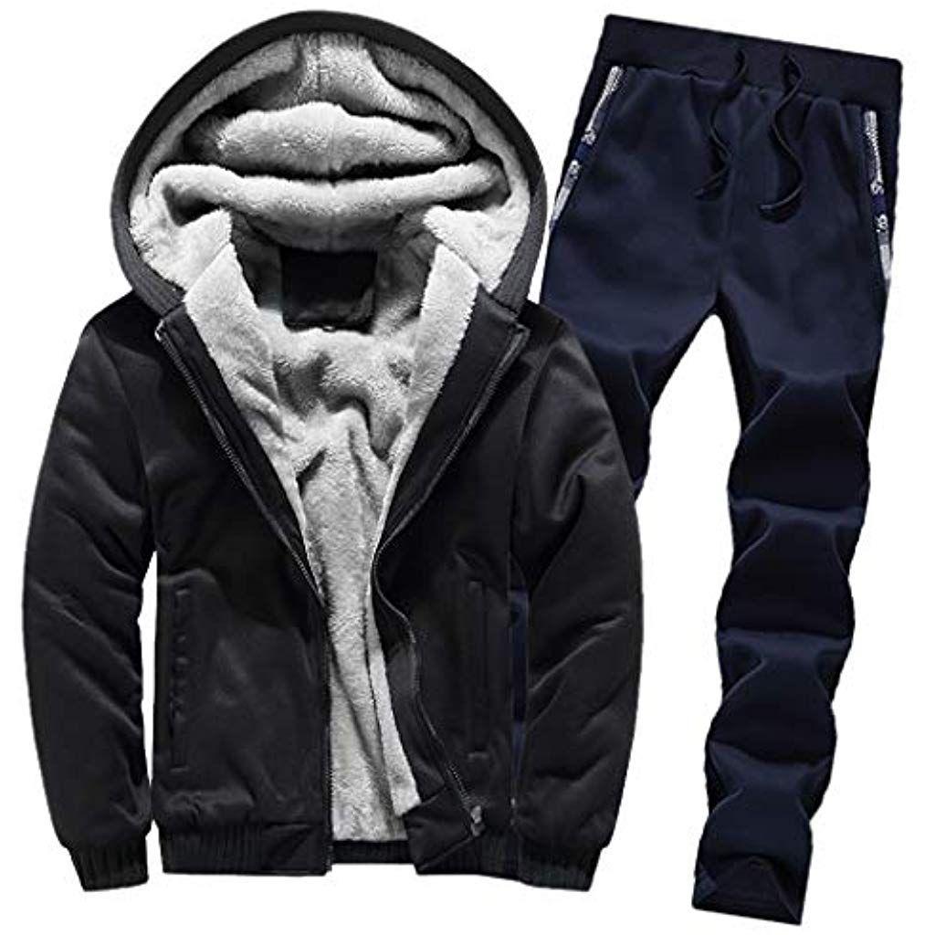 Winter Trainingsanzugluotuo Herren Sportanzug Jogginganzug Langarm Hooded Sweatshirt Sporthose Zwei Teilig Sportwear Jungs Hoodies Pullover Jacke Jogginganzug
